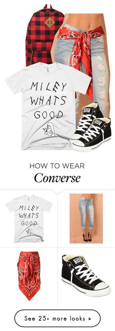 """Number"" by kiaratee on Polyvore featuring Forever 21, Moschino and Converse"