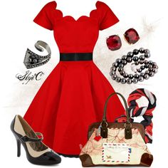 """""""50s Outfit"""" by rubytyra on Polyvore"""