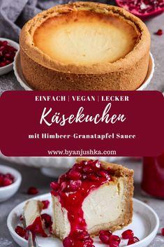 Vegan Cheesecake, Cheesecake Recipes, Vegan For A Week, Banana Bread Recipes, Food Cakes, Delicious Vegan Recipes, Vegan Snacks, Dessert Pizza, Vegan Life