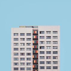 Fine art photographer Malte Brandenburg's 'Stacked' series explores the architecture and urban design surrounding Berlin's post-war tower blocks. Building Photography, Photography Series, Urban Photography, Creative Photography, Geometric Photography, Berlin Photography, Minimal Photography, Minimalist Architecture, Facade Architecture