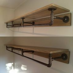 Pipe Shelf idea - Industrial look for closet or laundry room