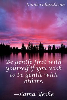 Be gentle first with yourself if you wish to be gentle with others - Lama Yeshe