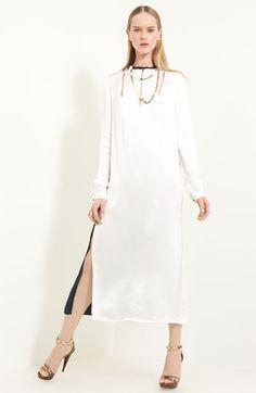 Lanvin Techno Twill Caftan Dress