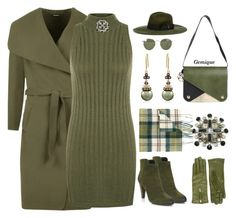 """""""Not Drab Just Olive"""" by gemique ❤ liked on Polyvore featuring Braintropy, Elie Tahari, WearAll, LE VIAN, Barbour, Ray-Ban, Want Les Essentiels de la Vie, Diesel and Chanel"""