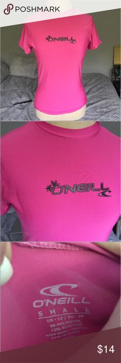 Hot Pink Swim Top doesn't have to be worn to swim but it is waterproof and super cute! O'Neill Swim Coverups