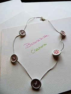 Buttons necklace by Bananasista creations @ amazon handmade
