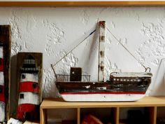 Pallet Wall Art, Boat Art, Wood Boats, Wooden Ship, Driftwood Art, Pallet Signs, Ship Art, Fairy Houses, Diy Jewelry Making