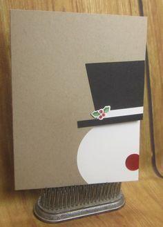 DIY Christmas Cards: Frosty the Snowman Card