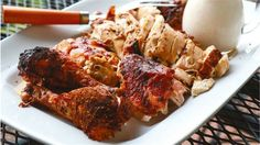 Beer Can Chicken with White Barbecue Sauce