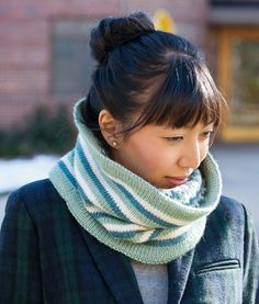 Reversible cowl from November Knits.  Love these colors exactly! (Interweave Press)