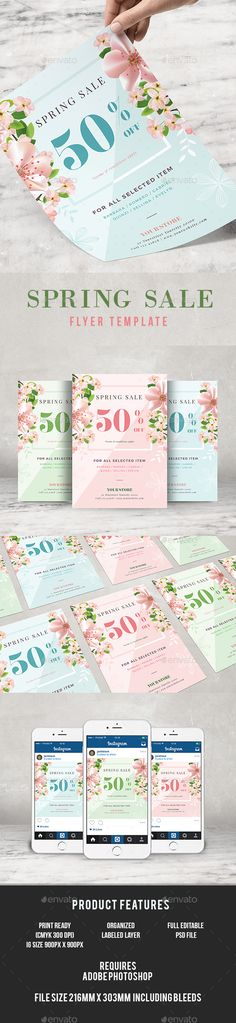 Summer Party - Flyer Template @creativework247 Flyer Templates - spring flyer template