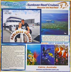 Reef Cruise - Left Page of 2-page spread - Scrapbook.com
