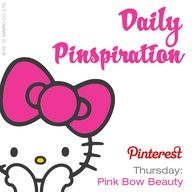 Thursday's pinspiration: Pin your favorite BEAUTY items or looks (hair, make-up, whatever makes YOU beautiful)! #SephoraHelloKitty