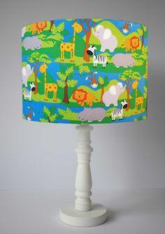 Jungle Animal Lampshade For Table Lamp, Safari Animal Light Shade Ceiling Kids, Nursery Decor Safari Animals, Zoo Animals Nursery Lighting Safari Nursery, Animal Nursery, Nursery Themes, Nursery Decor, Themed Nursery, Animal Lamp, Giraffes, Elephants, Nursery Lighting