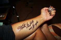 walk by faith not by sight tattoo - Google Search