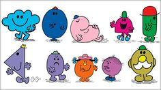 Mr Men books by Roger Hargreaves. Loved these and the animations narrated by Arthur Lowe.