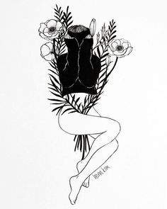 Pure Morning by Henn Kim #art #design #floral #linework #lineart #blackandwhite #sad #surrealism #wallart #decor #homedecor #tattoos