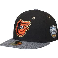 28a02587638dd0 shopping mens baltimore orioles new era white black 2018 mlb all star game  39thirty flex hat