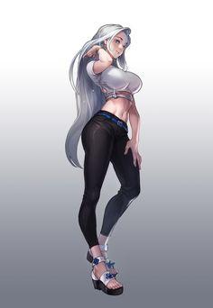 Kawaii Anime Girl, Cool Anime Girl, Beautiful Anime Girl, Anime Art Girl, Anime Sexy, Anime Sensual, Fantasy Art Women, Fantasy Girl, Chica Anime Manga