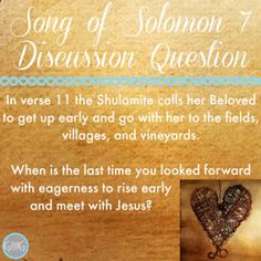 Good Morning Girls Resources {Song of Solomon 6-8} - Women Living Well