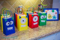 Monster party favor goody bags