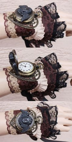 Steampunk clothing and accessories ; vêtements et accessoires steampunk ; ropa y accesorios steampunk ; Steampunk Couture, Gants Steampunk, Steampunk Gloves, Viktorianischer Steampunk, Steampunk Accessoires, Steampunk Design, Steampunk Wedding, Steampunk Clothing, Steampunk Necklace