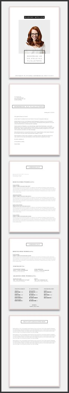 """Unsere Bewerbungsvorlage ( #cvtemplate ) """"Minimal Art"""" in der Farbe Light Rose. Zeigen Sie mit dem minimalistischen Design unserer Vorlage """"Minimal Art"""", dass sie modern leben und es auch gerne zeigen. Sie erhalten von uns ein Deckblatt, Anschreiben, Lebenslauf, Motivationsschreiben. Die Datei bekommen Sie als fertige Pages- oder Word-Datei inklusive Platzhaltertext mit Hinweisen. #grafikdesign #fashion"""