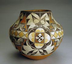 Acoma Four Color Olla, c. 1900. Courtesy of Philip Suval Inc.
