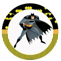 Fiesta de Batman: Toppers y Wrappers para Cupcakes para Imprimir Gratis.