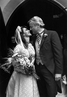 Natalie Wood and groom Richard Gregson on their wedding day, May 30, 1969.