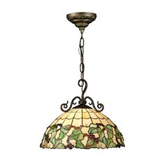 Dale Tiffany Tiffany Grape Pendant Light, Antique Bronze and Art Glass Shade Tiffany Pendant Light, Ceiling Pendant, Lowes Home Improvements, Hanging Lights, Glass Shades, Glass Art, Bronze, Antiques, Inspired Lighting