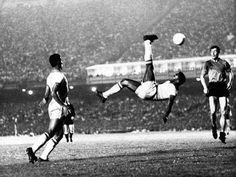 Pele. Quite simply the greatest footballer that ever lived!
