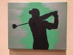 Golf sports canvas painting art