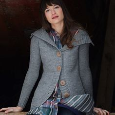 Calligraphy Cardigan Pattern -- Looks comfy