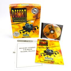 Desert Strike for MS-DOS by Electronic Arts In Big Box, 1994, Flight, Helicopter