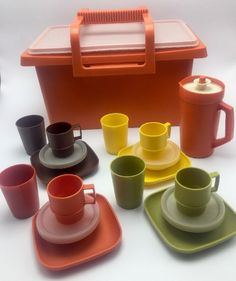 Tupperware TupperToys 1980 My First Party Set Kitchen Dishes For Boys n Girls  | eBay