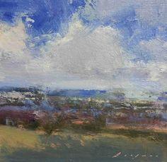 """horizon5 by Simon Addyman Oil ~ 6"""" x 6"""""""