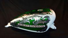 Aerografia Serbatoio  harley davidson tank made with candy color ,pin up , silver leaf and pastel color ..custom design