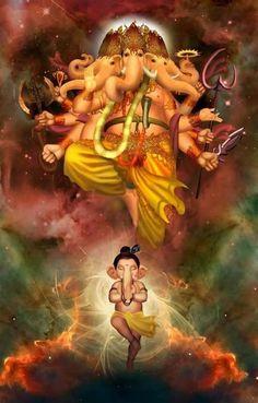 Ganash Jai Ganesh, Ganesh Lord, Ganesh Statue, Shree Ganesh, Shri Mataji, Lord Shiva Painting, Ganesha Painting, Ganesha Art, Ganesha Tattoo