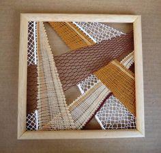 Krajka v rámu « Galerie | Paličkování - hra a tvoření