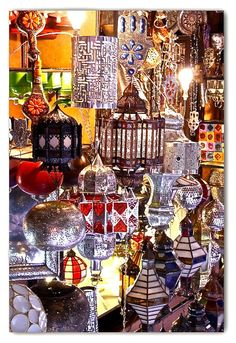 Hand-made metal lanterns...Place Ferblantier