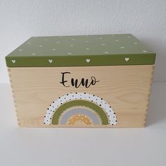 Wooden Memory Box, Wooden Boxes, Baby Box, Craft Business, Baby Room Decor, Toy Boxes, Keepsake Boxes, Diy For Kids, Wood Crafts