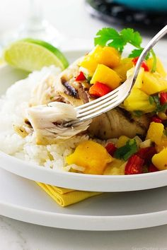 This recipe for grilled mahi-mahi with fresh mango salsa is a great dish for a week night dinner or a special gathering with friends. The spicy fresh mango salsa is sweet and zesty, perfect with this firm-flesh grilled mahi-mahi.