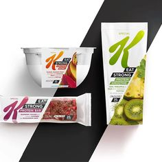 Great to see the launch of Special Ks performance protein range in Australia. Our design plays off the dynamic angle of the iconic K and strong forward momentum. Food Packaging Design, Packaging Design Inspiration, Branding Design, Kids Packaging, Food Branding, Protein Bars, Protein Shakes, Protein Desserts, Protein Cookies