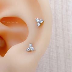Excited to share this item from my #etsy shop: Dainty 4mm flower labret sterling silver piercing earrings, trio ball screw piercing, triangle stud silver screw back stud silver Dainty Earrings, Etsy Earrings, Sterling Silver Earrings, Diamond Earrings, Back Piercings, Flower Ball, Labret, Triangle, Etsy Shop