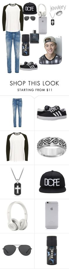 """""""Jack Johnson outfit"""" by bettyboop2001 on Polyvore featuring Denham, adidas, Cherish Always, David Yurman, Forever 21, Beats by Dr. Dre, Native Union, Michael Kors, Axe and Chanel"""