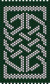 Celtic Knot 1. Peyote stitch at Sova-Enterprises.com