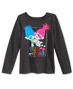 ded89f99 DreamWorks Trolls Hug Time Graphic Long-Sleeve T-Shirt, Toddler Girls  (2T-6X) & Reviews - Shirts & Tees - Kids - Macy's