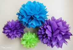 Peacock Decorations with Tissue Paper