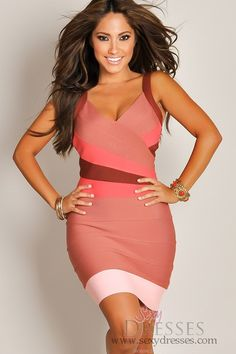 Ah this website has the most beautiful going out dresses! Designer Sexy Multi-Red Sleeveless Bandage Party Dress